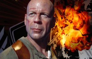 Bruce Willis/John McClane figure at Madame Tussauds Hollywood