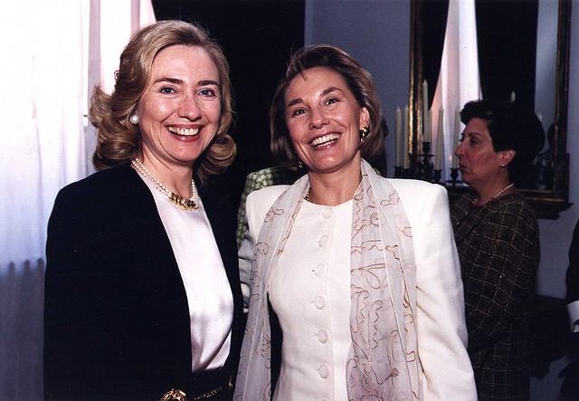 Cecilia Morel y Hillary Clinton