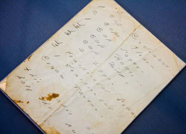 Emily Dickinson's handwritten coconut cake recipe, Emily Dickinson at Poets House