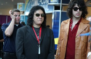 Gene Simmons walking through the San Diego Convention Center