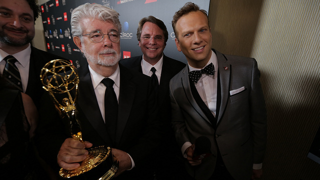 George Lucas and his new Emmy