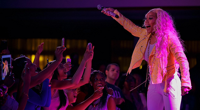 Keyshia Cole USO Show at Vogelweh Air Base in Germany
