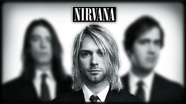 Nirvana Destacando A- Kurt Con Desenfoque