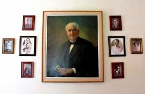Portraits of Thomas Edison at Edison Birthplace in Milan Ohio