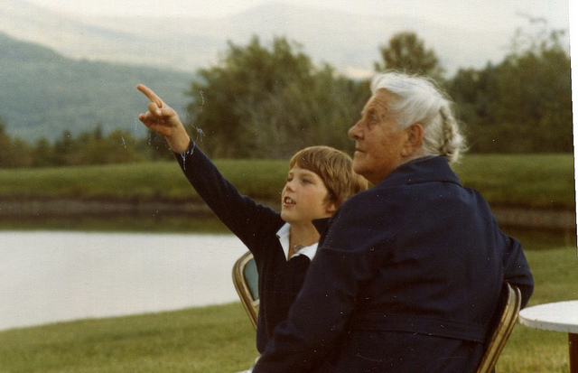Sam von Trapp '87 and Grandmother.