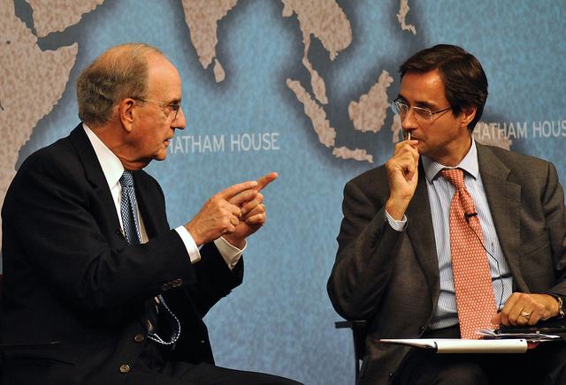 Senator George Mitchell and Dr Robin Niblett