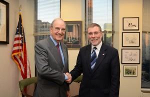 Social Development Minister Meets Sen George Mitchell