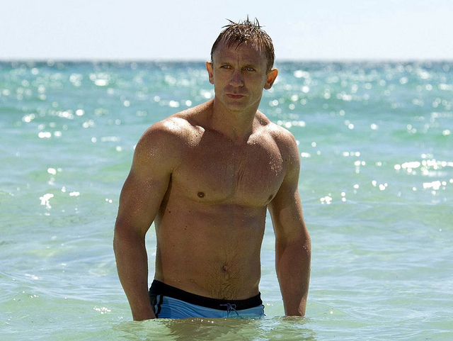 Daniel Craig in the sea