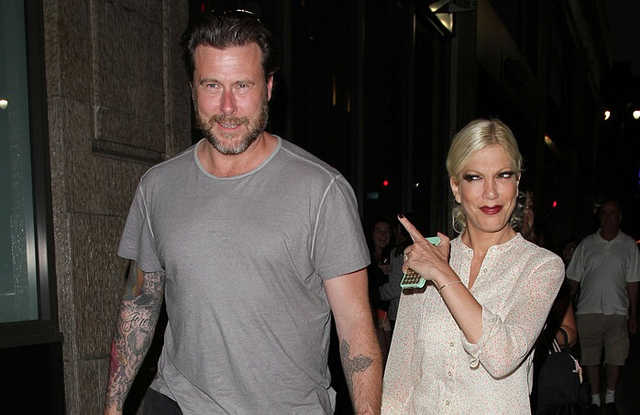 Tori Spelling & Dean McDermott Pull Out Sex Tape Desperate PR Ploy Tori Spelling is determined to keep herself and hubby Deal McDermott in the press at all costs and now she's pulling the tried and true not to mention tired sex tape admission. When celebs
