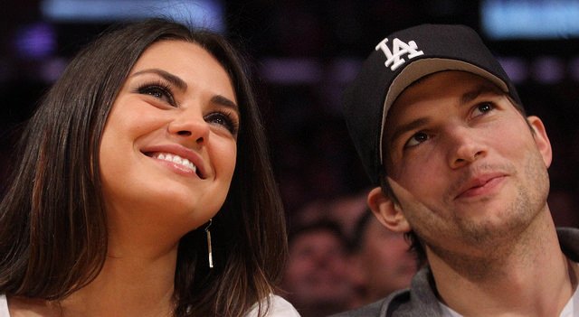 Ashton Kutcher and Mila Kunis in Indian style