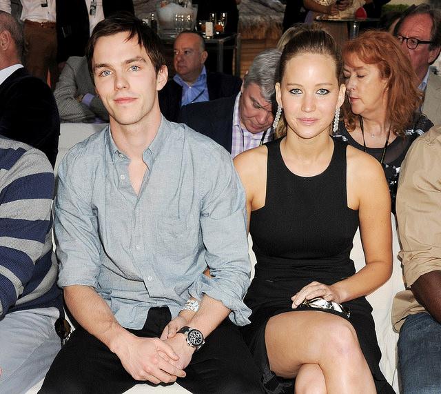 Jennifer Lawrence with boyfriend Nicholas Hoult