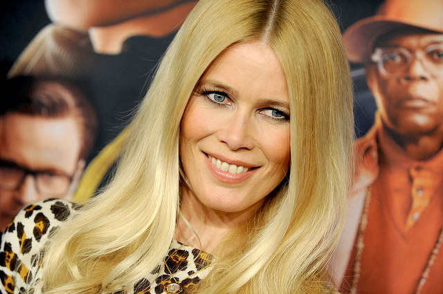 Claudia Schiffer attend the Kingsman: The Secret Service Premiere